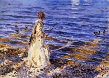 John Singer Sargent : Girl Fishing